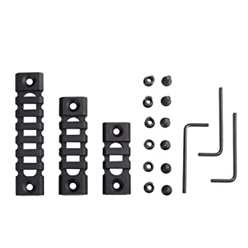 3-Slot,5-Slot,7-Slot BOOSTEADY Lightweight Picatinny Rail Section for Keymod Handguard Mount Pack of 3 by