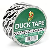 Duck Brand 280912 Printed Duct Tape, Mustaches, 1.88 Inches x 10 Yards, Case of 6 Rolls