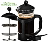 Best Thermos French Press Coffees - Ovente FPT34B French Press Drip Coffee Maker, 34-Ounce Review