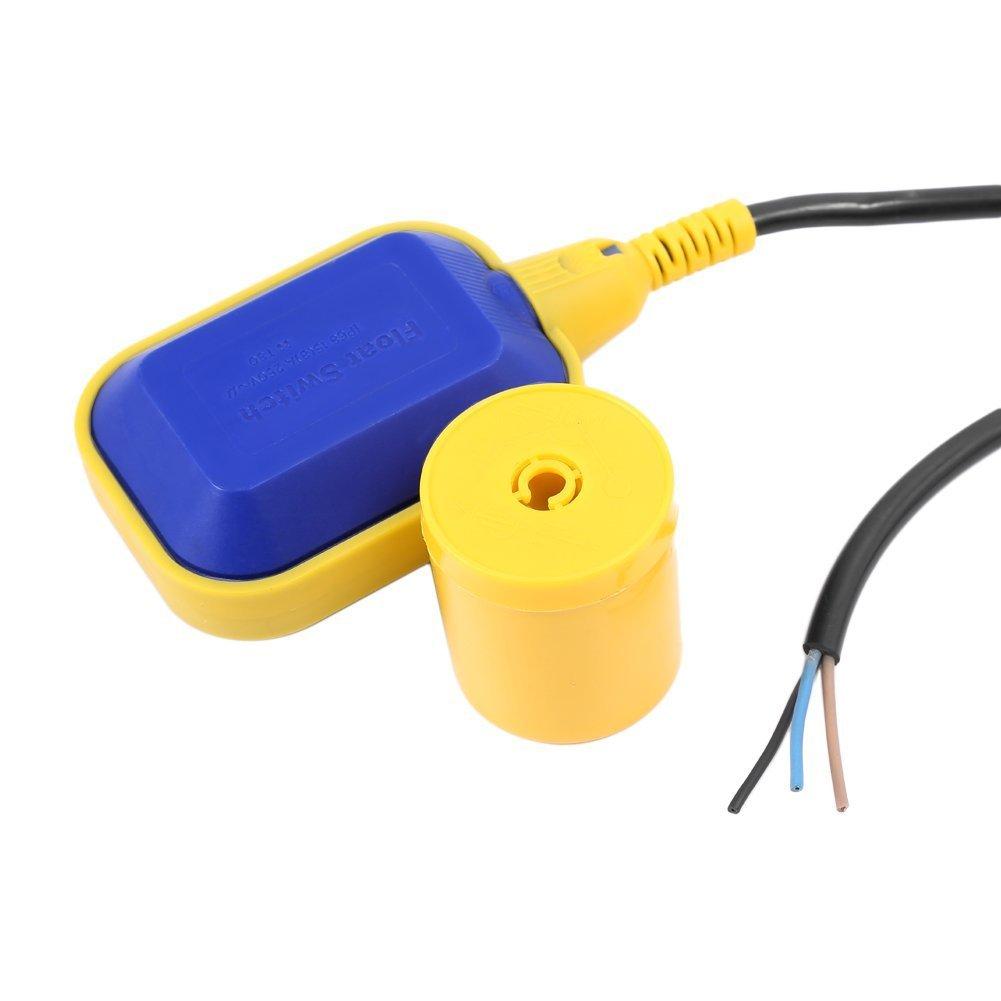 Commutateur Interrupteur de Niveau dEau /à Flotteur avec C/âble de 5M pour Pompe de R/éservoir