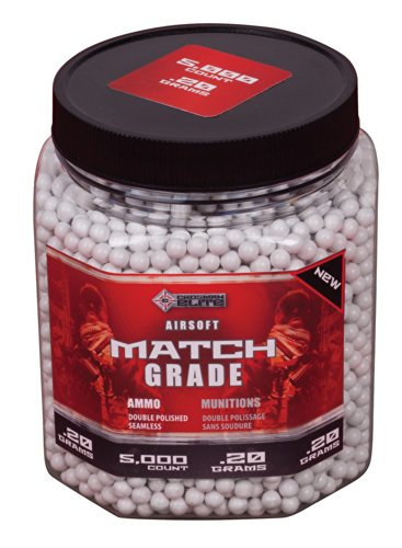 Crosman-AirSoft-5000-ct-Bottle-White-Heavy-AirSoft-BBs-20-grams
