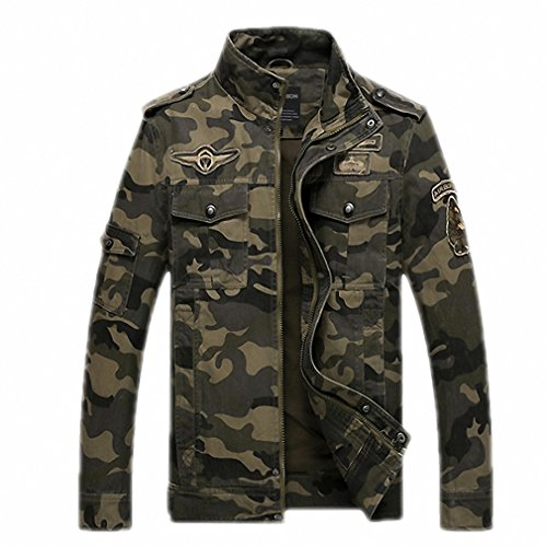 Military Tactical Jacket Style Militar Clothing Jeans Male Soldier Camo Jacket Men's US Army Camouflage Jacket Coats Beige XL (Up Jacket Army Warm)