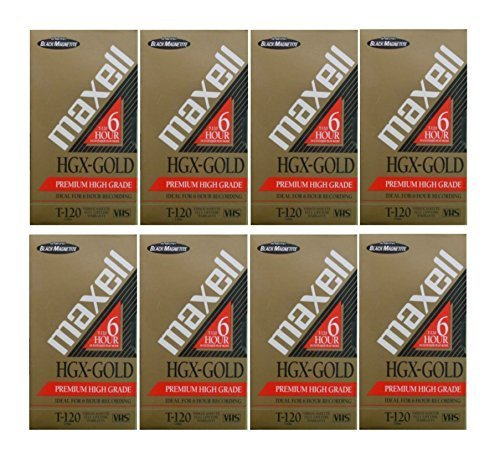 Maxell HGX T-120 VHS 9-pack