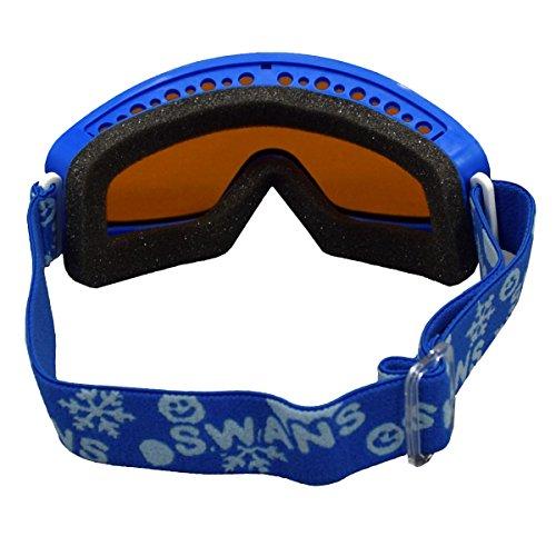 アスナロ(スキー小物)SWANS(スワンズ)子供用スキースノーボード用ゴーグルF青-オレンジ