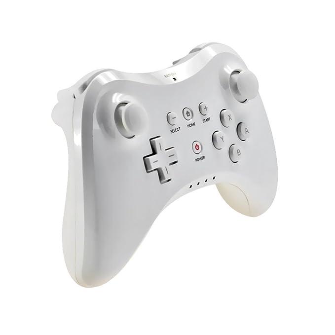 Link-e ® - Mando Pro Inalámbrico blanco para Nintendo Wii U ...