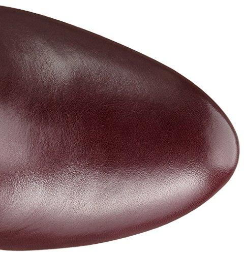 Clarks Kendra Glove - Botas altas para mujer Morado (Aubergine Leather)