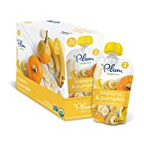 Plum Organics Stage 2, Organic Baby Food, Banana and Pumpkin, 4 ounce pouch (Pack of 12)