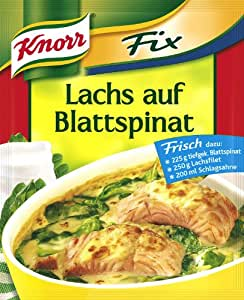 Knorr Fix salmon with spinach (Lachs auf Blattspinat) (Pack of 4)