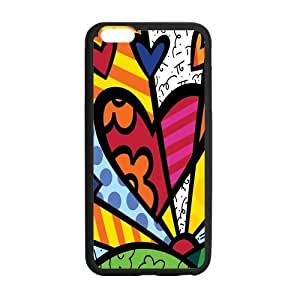 Canting_Good Romero Britto colorful art Custom Case Shell Skin for iPhone6 Plus 5.5 (Laser Technology)