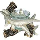 River's Edge Deer Antler Candle Holder, Brown