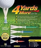 Greenkeepers. 4 Yards More Golf Tee - Variety Pack (4 Tees)