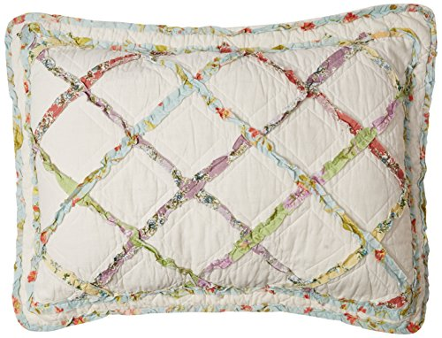 Laura Ashley Ruffled Garden Sham, Standard (Chest Quilt)