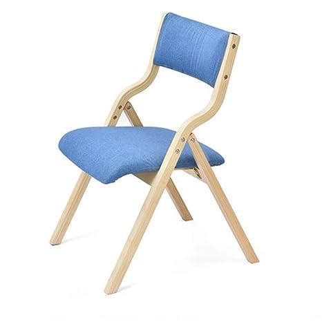 Silla plegable de madera maciza simple respaldo moderno ...