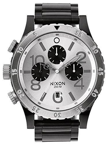 Black/Silver The 48-20 Chrono Watch by Nixon