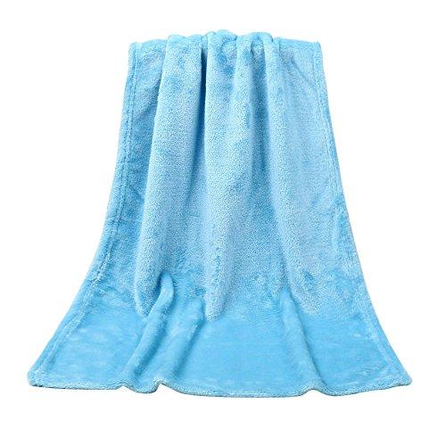 Muranba 4565CM Kids Blanket Solid Soft Warm Throw (Sky Blue, 100X140cm)