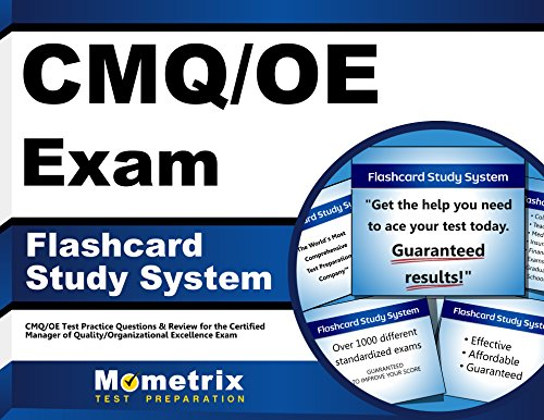CMQ/OE Exam Flashcard Study System: CMQ/OE Test Practice Questions & Review for the Certified Manager of Quality/Organizational Excellence Exam (Cards)