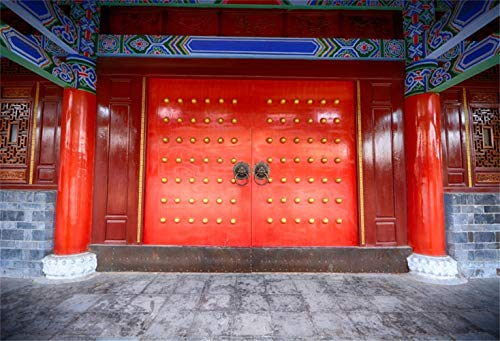 Majestic Gate - Laeacco 8x6.5ft Majestic Country Goverment Gate Frontage Vinyl Photography Background Chinese Cultural Relics Historical Building Backdrop Ancient Architecture Wallpaper Holiday Maker Shoot Studio