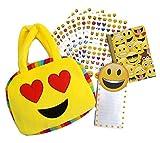 Emoji Purse Stationary Bundle Set of 4 Expressions May Vary (Heart Eyes Emoji)