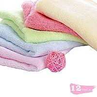 Maypluss Organic Bamboo Washcloths Ultra Soft & Absorbent Towels for Sensitiv...