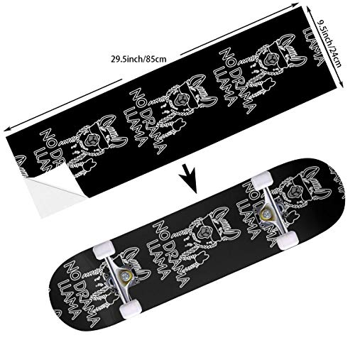 ama Llama Skateboard Stickers Cruiser Deck Decorate Skate Balance Board Decals - 24 X 85 cm for Riding Adults Girls ()