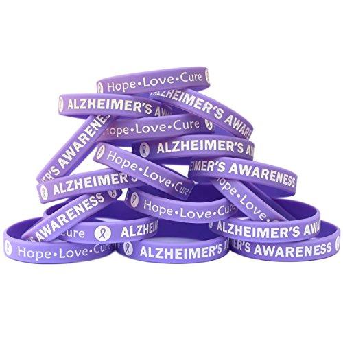 SayitBands 50 Alzheimer's Awareness Wristband Silicone Bracelets