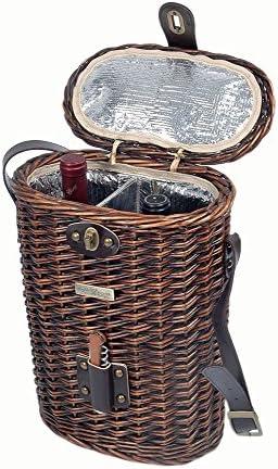 Picnic Beyond Willow Wine Basket