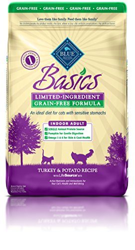 BLUE Basics Limited Ingredient Diet Adult Indoor Grain Free Turkey & Potato  Dry Cat Food 11-lb (Buffalo Turkey)