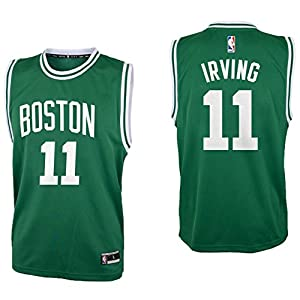 0a04abf01eb Outerstuff Kyrie Irving Boston Celtics  11 Green Youth Road Replica Jersey