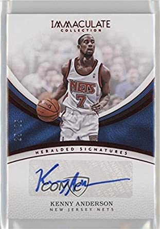Amazon.com  Kenny Anderson   25 (Basketball Card) 2016-17 Panini Immaculate  Collection - Heralded Signatures - Red  HS-KAN  Collectibles   Fine Art c97acc484