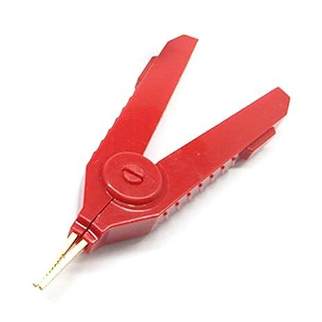 ReFaXi Pinza cocodrilo eléctrica Surtido inalámbrico Test Alicate de cobre oro Alicate, Pinza cocodrilo Clip