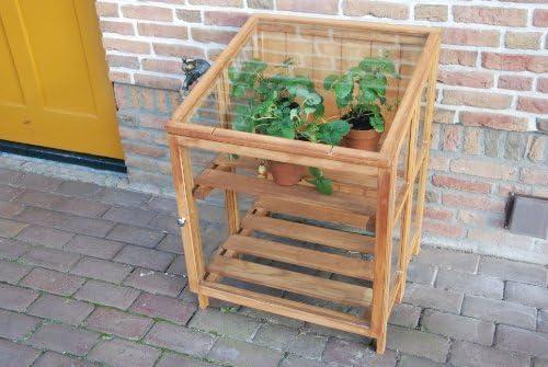 Esschert Design Greenhouse Hardwood Small GT32 Foldable Outdoor Garden Patio
