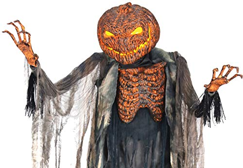 Life Size Animated SCORCHED SCARECROW with FOGGER Halloween Haunted House Prop]()