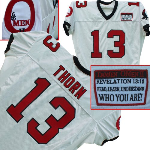 Omen 2 Damien Thorn #13 Movie Jersey ()