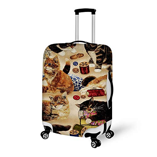 - Spandex Travel Luggage Cover, Suitcase Protector Bag Fits 25-28 Inch Luggage Curious Cats And Sewing Notions Tan