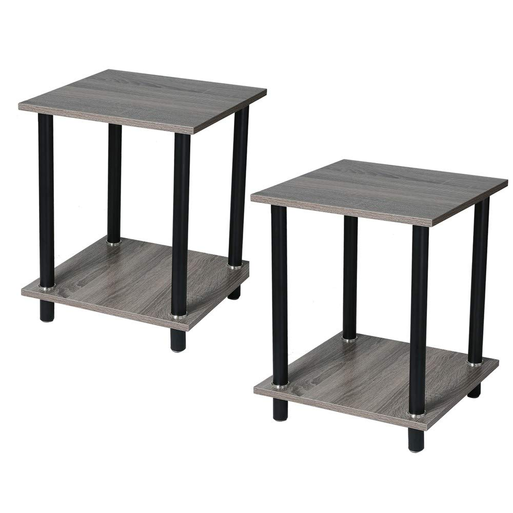 Kimanli Coffee Table, Side Bedside Cabinet Bedroom Storage Cabinet Storage Cabinet End Table Set of 2