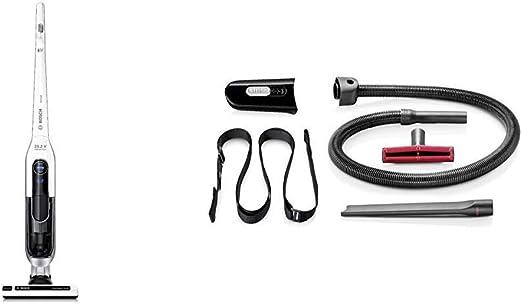 Bosch BBH625W60 Athlet - Aspirador Escoba (autonomía hasta 60 min, tecnología SensorBagless, batería Ion-Litio de 25,2 V), Color Blanco + BHZPROKIT Kit de Accesorios para aspiradora, 7800 W, Plástico: Amazon.es: Hogar