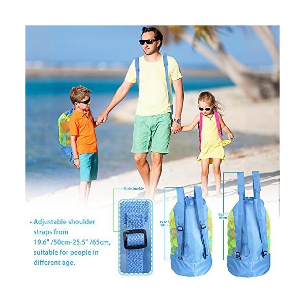 Borsa da Spiaggia, EocuSun Grande Borsa Lunga Durata per Sabbia Nuotare e Piscina e Deposito Giocattoli Bambini da… 3 spesavip
