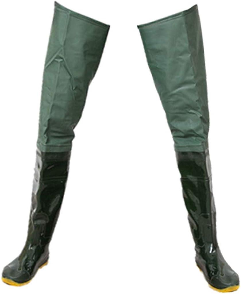 SDENSHI Damen Herren Wathose Anglerhose Teichhose mit Stiefeln Gr/ün