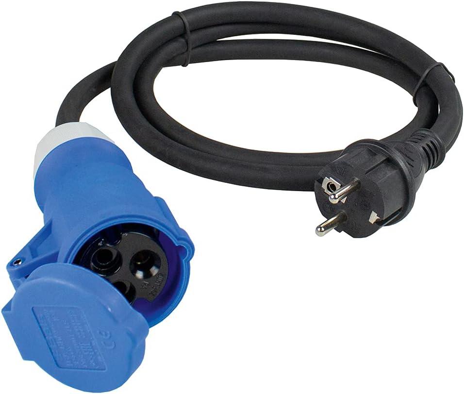 as-Schwabe Caravan Adapter Kabel Schukostecker Winkelkupplung Kupplung IP44