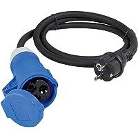 as - Schwabe CEE-adapterkabel Caravan - 230 V / 16 A CEE-koppeling & geaarde stekker met beschermkap - 3-polige kabel…