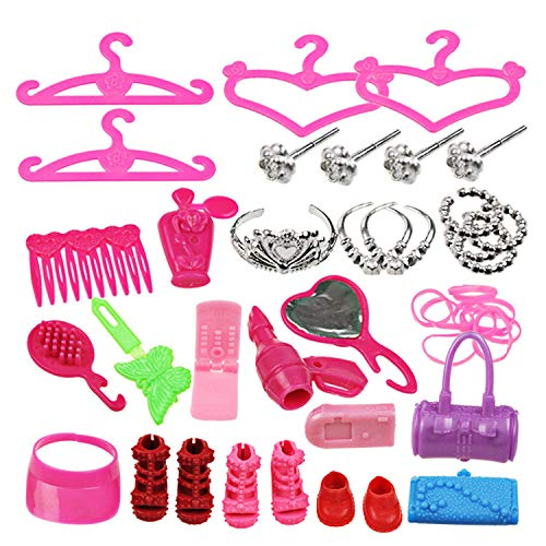 Doll Toy Shoes Crown Comb Rubber Band Accessories GREATLOVE Dolls Accessories 42 Piece Set Christmas Toys