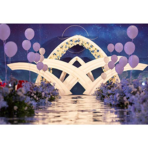 AOFOTO 9x6ft Wedding Scene Backdrop Vinyl Starry Sky