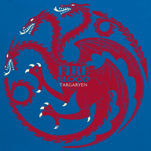 Official Game of Thrones - Fire And Blood Camiseta, Para mujer Azul real