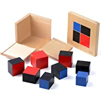 Montessori Sensory Cube Early Education Materials Children's Wooden Educational Toys Binomial Cube (Binomial)