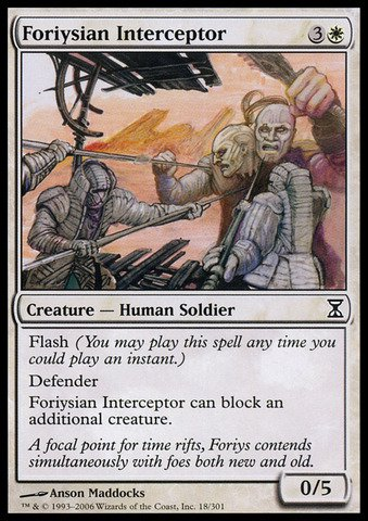 Magic: the Gathering - Foriysian Interceptor - Time Spiral (Best Defenders Of All Time)