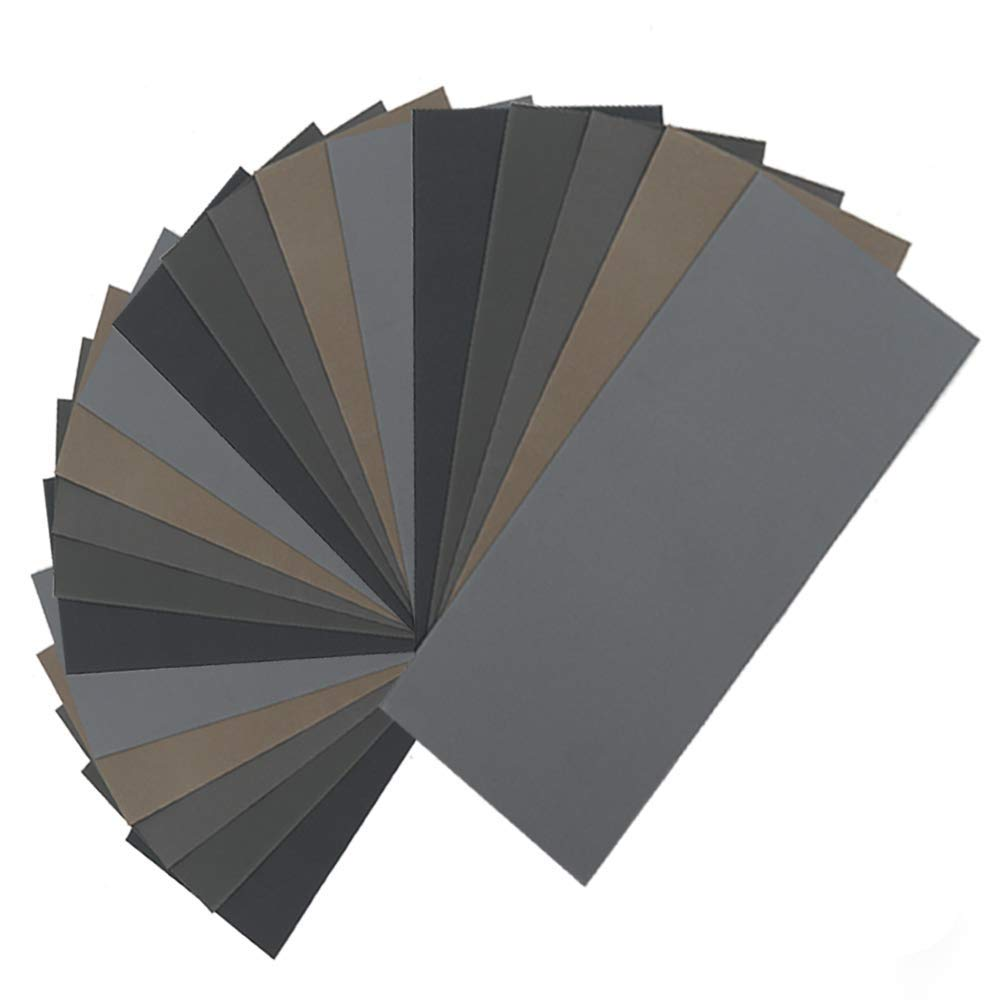 Sandpaper sheets 2500 Grits 9 inch x 3.6 inch dry and wet silicon carbide sandpaper for wood furniture Metal Polished automotive 15 pieces