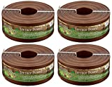 Master Mark Plastics 95340 Terrace Board Landscape Edging Coil, 5-inch x 40-Foot, Brown (Pack of 4)