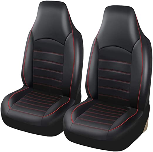 TOYOTA AYGO BLACK RACING RED SEAT COVERS