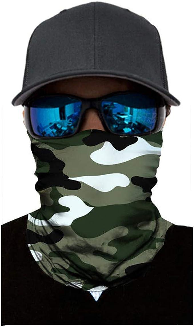 Lulupi Schlauchtuch Bedruckte Multifunktionstuch Damen Und Herren Halstuch Gesichtsmaske Atmungsaktiv Mund Tuch Staubschutz Outdoor Schlauchschal Motorrad Fahrrad Schal Face Shield Bekleidung