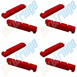 4 Pairs Red Insert Road Brake Pads for Shimano Dura-Ace Ultegra 105, DiscoB Race